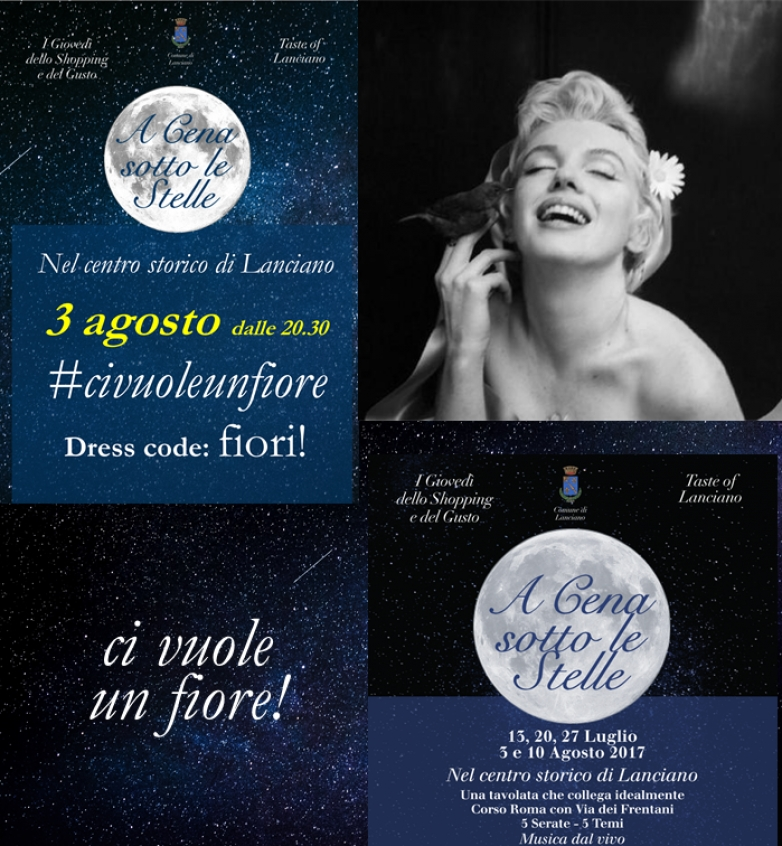 3 agosto - A cena sotto le stelle - Dress code: Fiori!